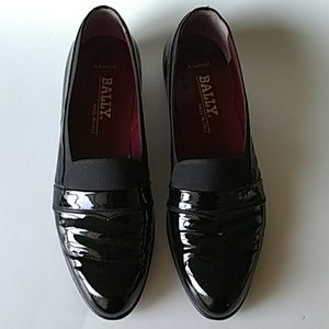 Bally black patent leather dress shoe sz 11.5